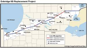 Us Map Michigan by Little Oversight For Enbridge Pipeline Route That Skirts Lake