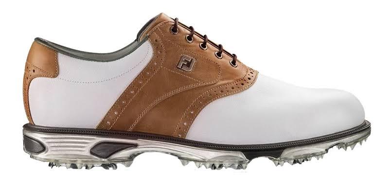 FootJoy DryJoys Tour Golf Shoes White/Bomber Taupe,