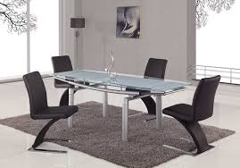 global furniture usa 88 glass dining table frosted leg gf d88dt