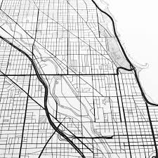 Chicago Line Map by Chicago City Lines Map Print U2014 Turn Of The Centuries