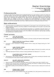 dba sample resume stephen groombridge cv 1 1
