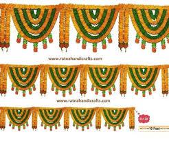 Indian Flower Design 10 Feet Flower Door Decoration Toran Buy Indian Flower
