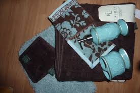 rug patterned towel accessories better homes large u0026 mini brown