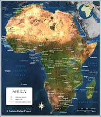 Physical Map Africa by Map Of Africa Countries Of Africa Nations Online Project