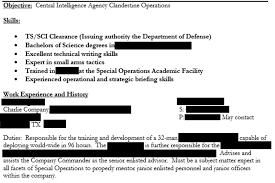writing a military resume insecure how a private military contractor s hiring files leaked an example of some of the documents information redacted by upguard
