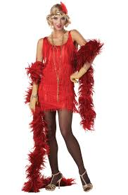 1920 Halloween Costumes Fashion Flapper 1920 U0027s Halloween Costume Red