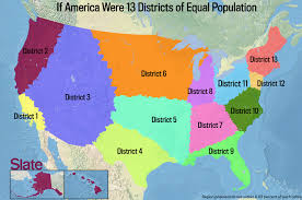Untied States Map If Every U S State Had The Same Population What Would The Map Of