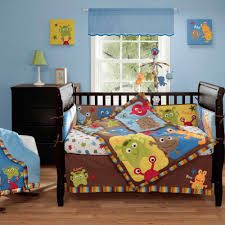 Monkey Crib Set Amazon Com Baby Monster 4 Piece Baby Crib Bedding Set With