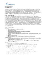 Executive Assistant Job Resume by Assistant Medical Assistant Job Description Resume