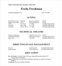 Qualifications Resume Example by Theater Resume Template Qualifications Resume Technical Theatre