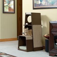 pet products modular modern cat tower 416819 sauder