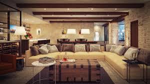 rustic modern living room design wooden floor white cabinet white