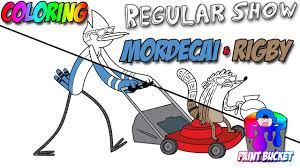 regular show cartoon network mordecai and rigby cartoon