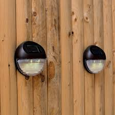Solar Fence Lighting by Set Of 4 Super Bright Round Brown Solar Fence Lights Great