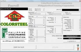 Payroll System is a complex of useful programs that generate extract record from database to excel template  It has a print form payslip to be given to all