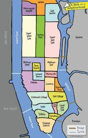 Street Map Of New York City by Best 25 Map Of Manhattan Ideas On Pinterest Map Of New York