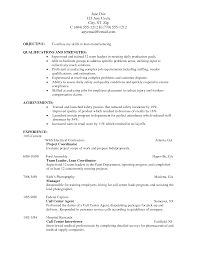 Resume Sample For Manufacturing Jobs Resume