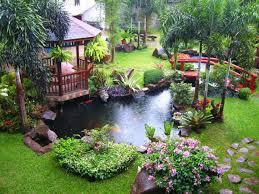 decor u0026 tips fish pond and gazebo with flower garden ideas also