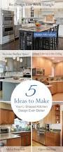Kitchen Peninsula With Seating by Best 25 L Shaped Kitchen Ideas On Pinterest L Shaped Kitchen