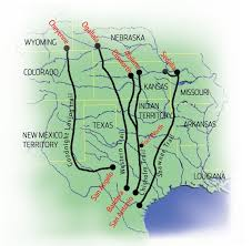 Texas Map Outline Cattle Drives Map Cattle Drives Pinterest Social Studies