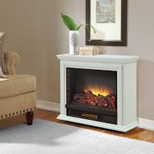 50 Electric Fireplace by Pleasant Hearth Sheridan Mobile Fireplace White Walmart Canada