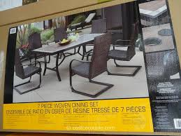 Costco In Store Patio Furniture - agio international 7 piece fairview woven dining set