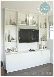 Ikea Bookshelves Built In by 26 Best Built In For Living Room Images On Pinterest Billy