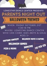 halloween themed parents u0027 night out 10 21 lonestar dance center