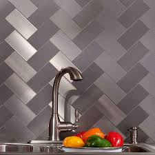 kitchen silver metal mosaic kitchen tiles backsplash smmt112