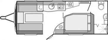 Caravan Floor Plan Layouts 4 Berth Fixed Corner Bed Touring Caravan Hire Caravan Details
