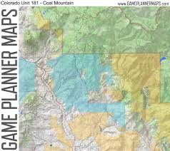 Colorado Unit Map by Game Planner Maps Home Facebook