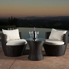 Wicker Outdoor Furniture Sets by Amazon Com Kyoto Outdoor Patio Furniture Brown Wicker 3 Piece