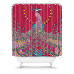 DENY Designs Home Accessories | Geronimo Studio Red Peacock Shower ...