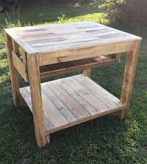 Wooden Kitchen Island Table Reclaimed Pallet Kitchen Island Table