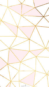 Ombre Color Wallpaper by Pink Gold White Geometric Mosaic Iphone Phone Wallpaper Background