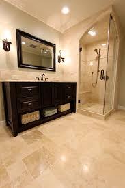 Bathroom Tile Ideas Traditional Colors Ivory Travertine Tile Bathroom Traditional With Arch Glass Door