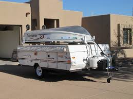 Pop Up Camper Interior Ideas by Popup Camper Boat Rack Modification For Those Who Like Boats
