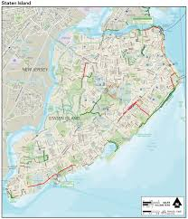 Street Map Of New York City by Large Detailed New York Staten Island Bike Map New York Staten