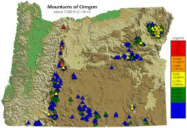 Oregon State Fair Map by List Of Mountains Of Oregon Wikipedia