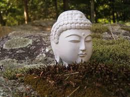 buddha head concrete home decor plant pot decor zen garden