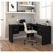 Computer Desks Black by Monarch Cappuccino Hollow Core L Shaped Computer Desk Hayneedle