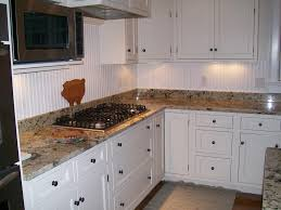 painting beadboard backsplash ideas with black gas stove and small