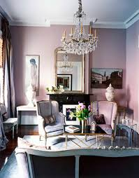 Living Room Design Ideas With Grey Sofa Small And Romantic Living Room With Soft Pink Wall Panit Mirror
