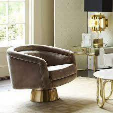 Club Swivel Chair Bacharach Swivel Chair Modern Furniture Jonathan Adler