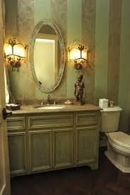 Small Powder Room Wallpaper Ideas Bathroom Glamorous Bathroom Decorating Ideas Using Glass