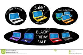 best buy black friday deals on computers mobile computer on black friday sale background stock vector