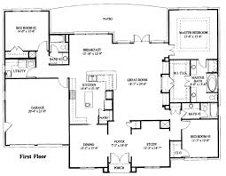 Floor Plan House 3 Bedroom Simple One Story House Plan House Plans Pinterest Story