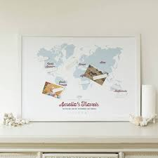 World Map Pinboard by Personalised World Travel Map By Maps International