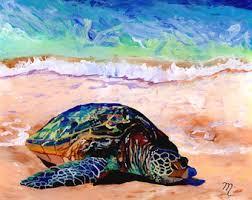 Sea Turtle Home Decor Sea Turtle Art Prints Honu Print Hawaiian Art Kauai Art