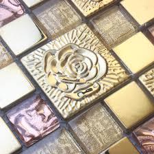 pink rose stainless steel tile backsplash ssmt298 kitchen mosaic